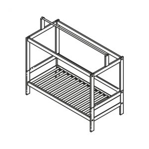 BASIC BED WITH ROOF CONSTRUCTION / STANDARD SLATS