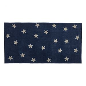 VLOERKLEED BLUE & STARS, 3D EFFECT